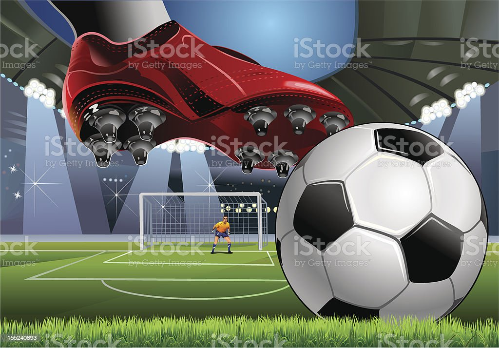 Soccer. Free kick. Penalty royalty-free soccer free kick penalty stock vector art & more images of adult