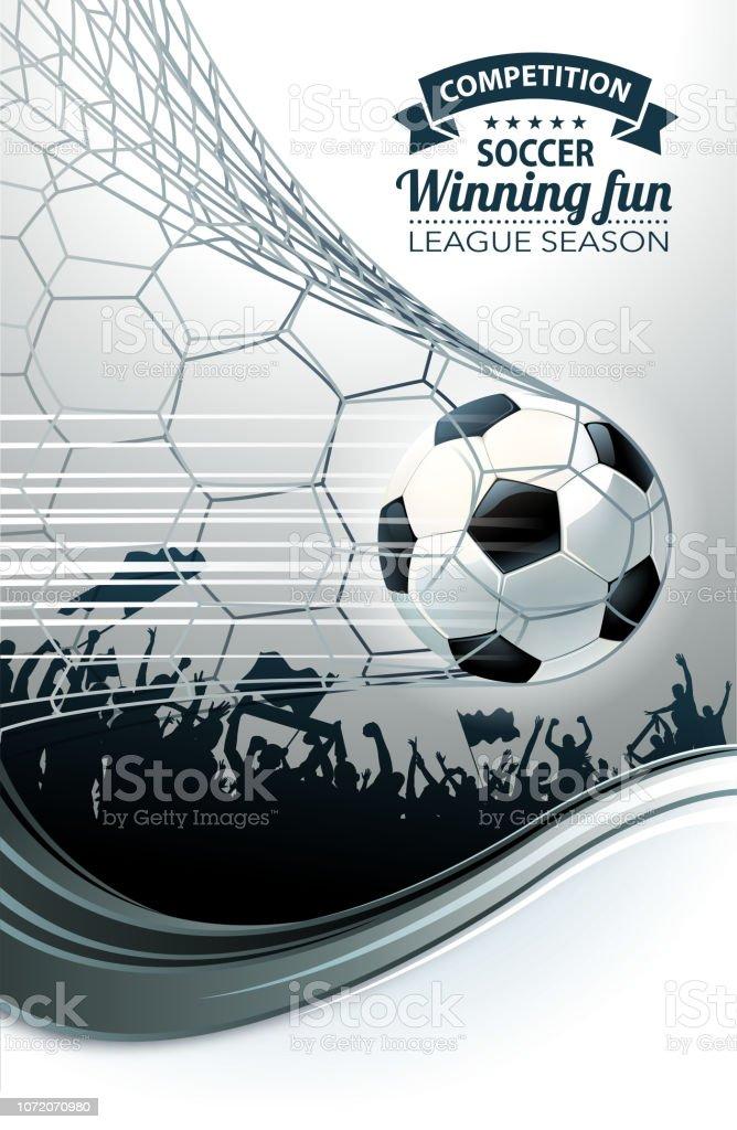futebol divertido objetivo - ilustração de arte em vetor