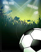 design of vector soccer fun background.This file was recorded with adobe illustrator cs4 transparent.EPS10 format.