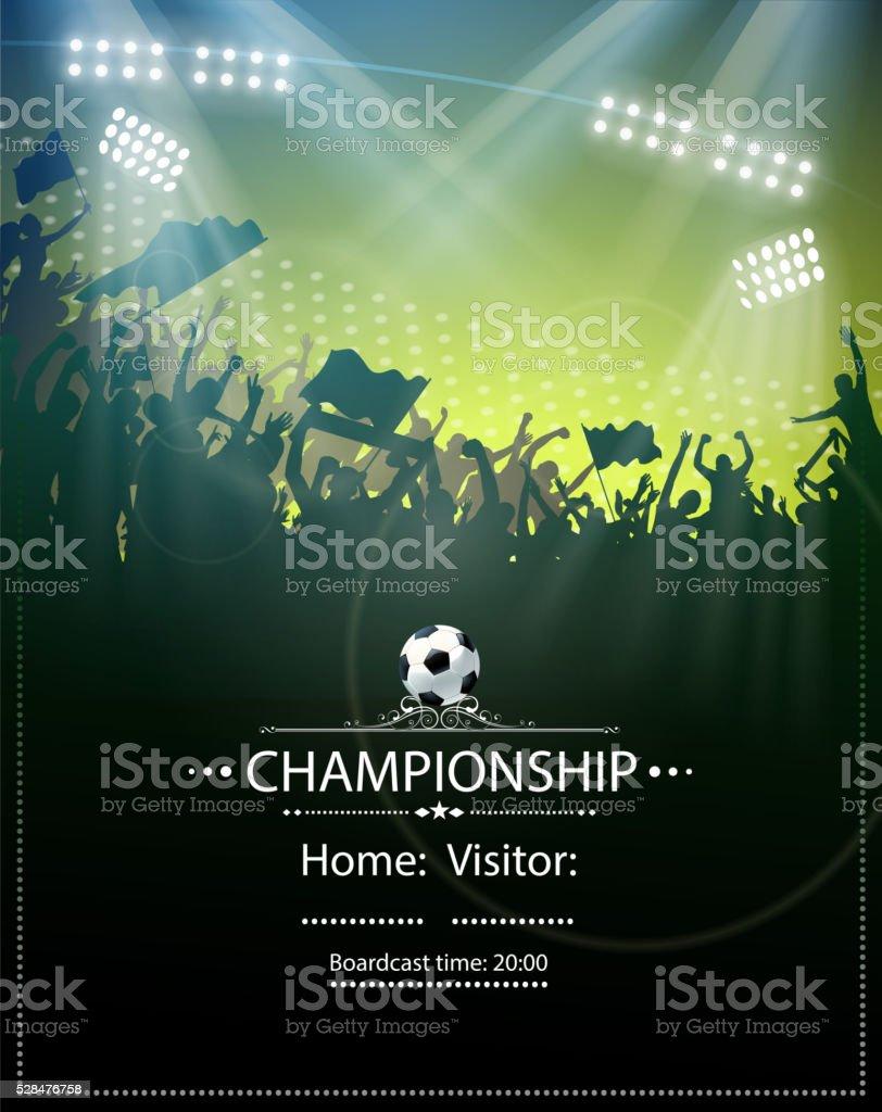Loisirs football - Illustration vectorielle