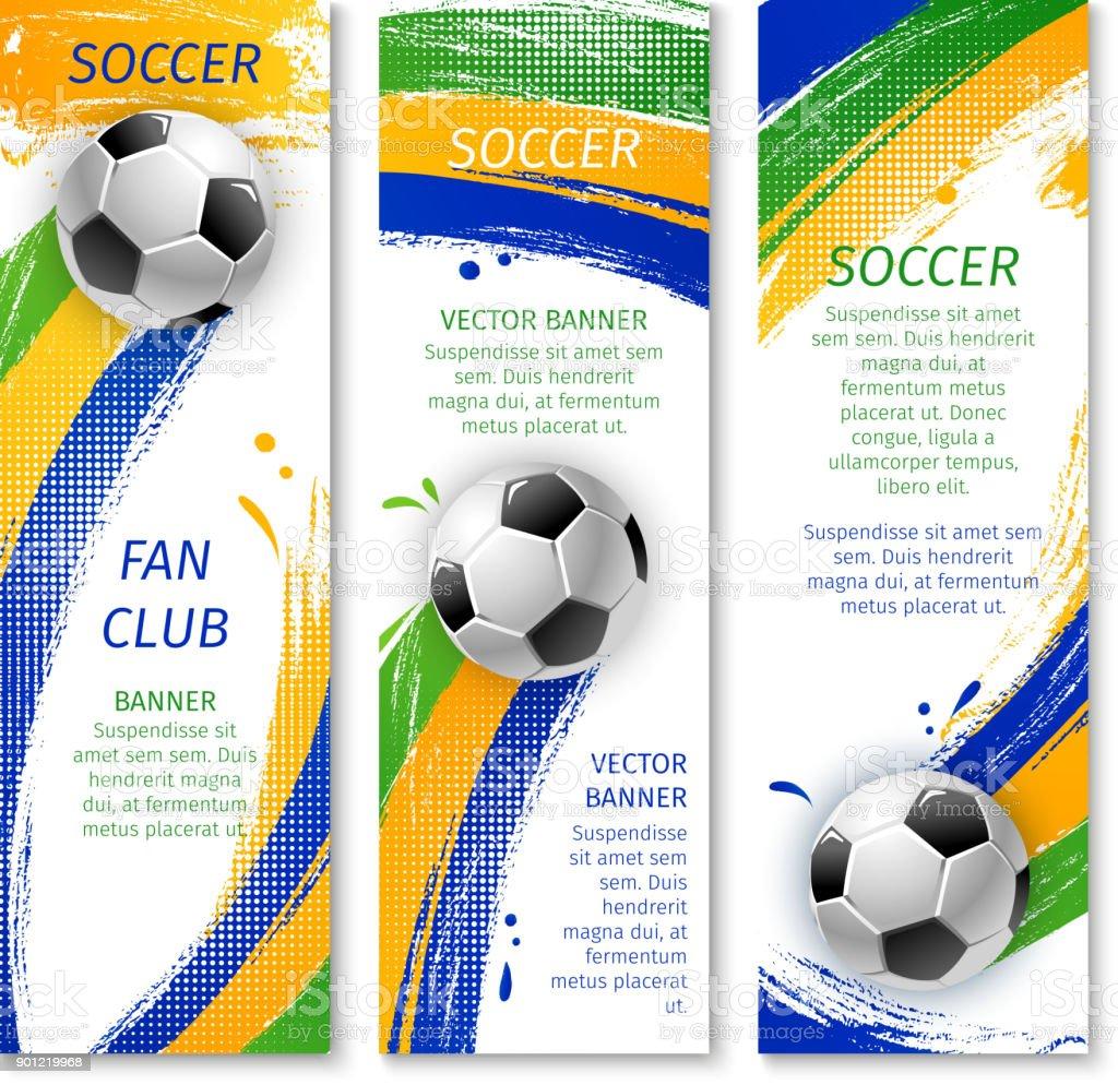 8a0e560b9 Banners de jogo de futebol para projeto esporte vetor de banners de jogo de  futebol para