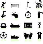 Soccer game black and white set
