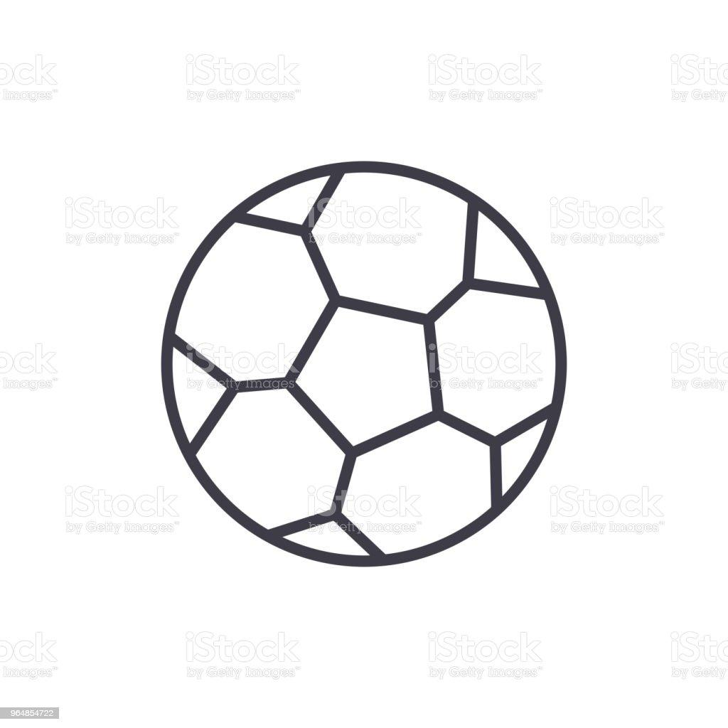 Fussball Spiel Schwarze Symbol Konzept Fussball Spiel Flache