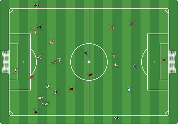 Soccer Game vector art illustration