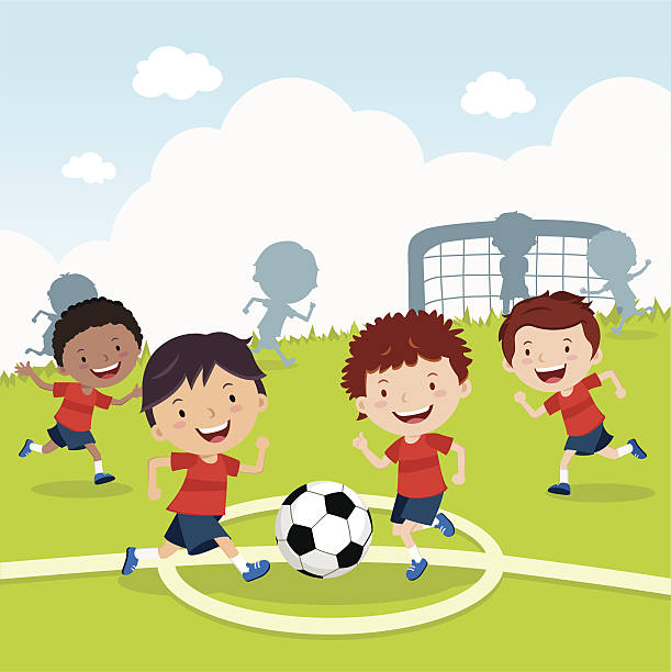 Znalezione obrazy dla zapytania kids soccer clipart