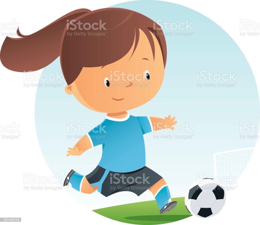 Fussball Madchen Stock Vektor Art Und Mehr Bilder Von