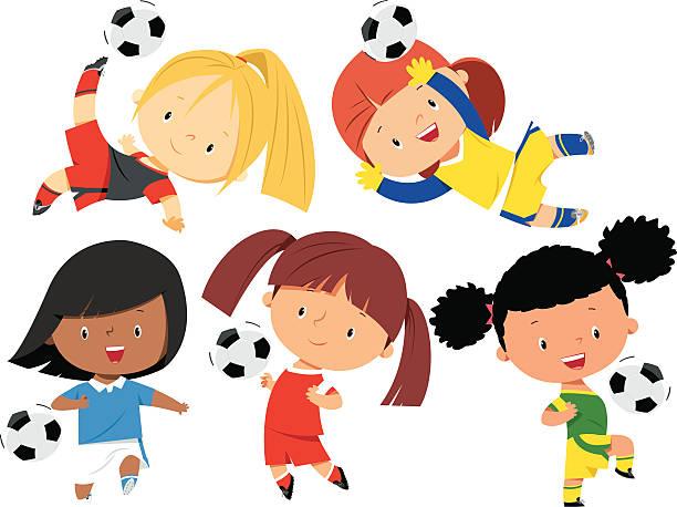 Best Kids' Soccer Illustrations, Royalty-Free Vector ...