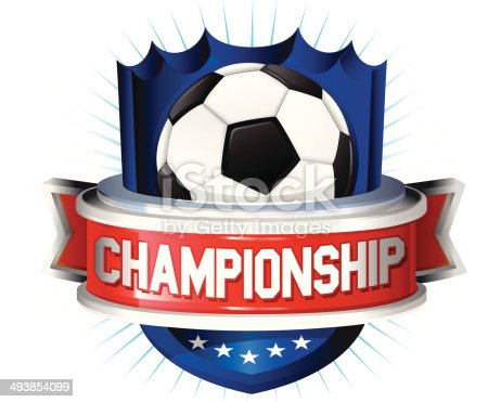 istock Soccer glossy shield 493854099