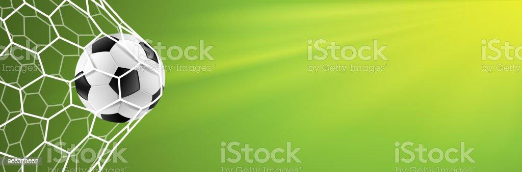 soccer goal background green vector - Векторная графика 2018 роялти-фри