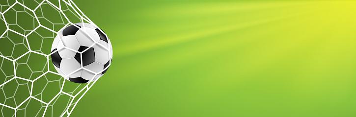 Soccer Goal Background Green Vector — стоковая векторная графика и другие изображения на тему 2018
