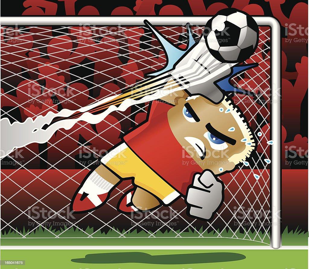 Soccer Goal Keeper royalty-free stock vector art