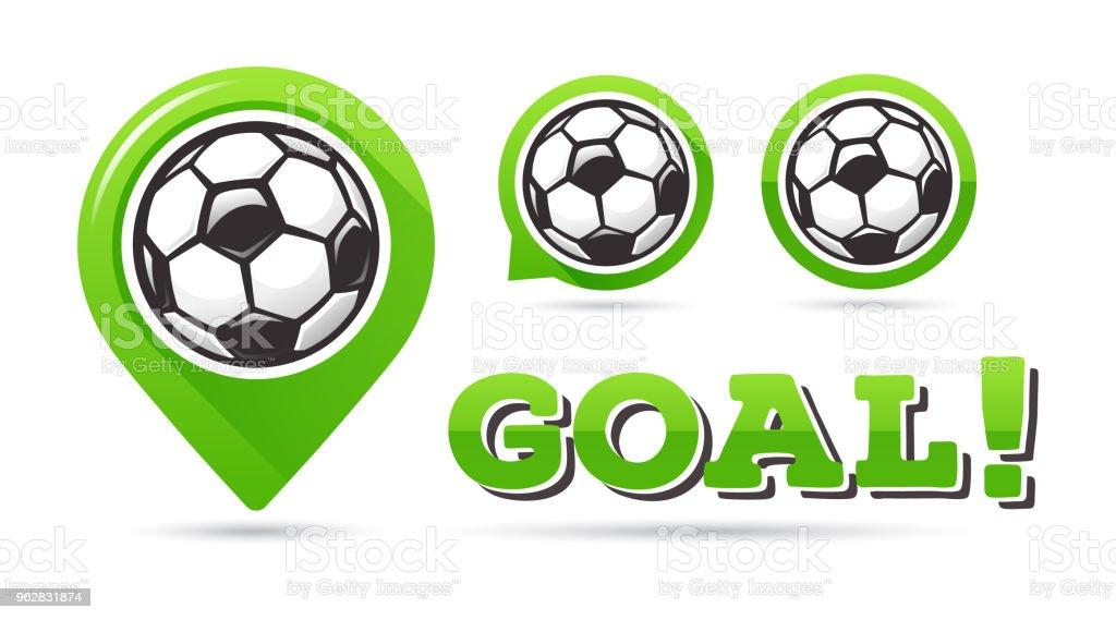 Soccer goal vector icons. Football goal. Set of football icons....