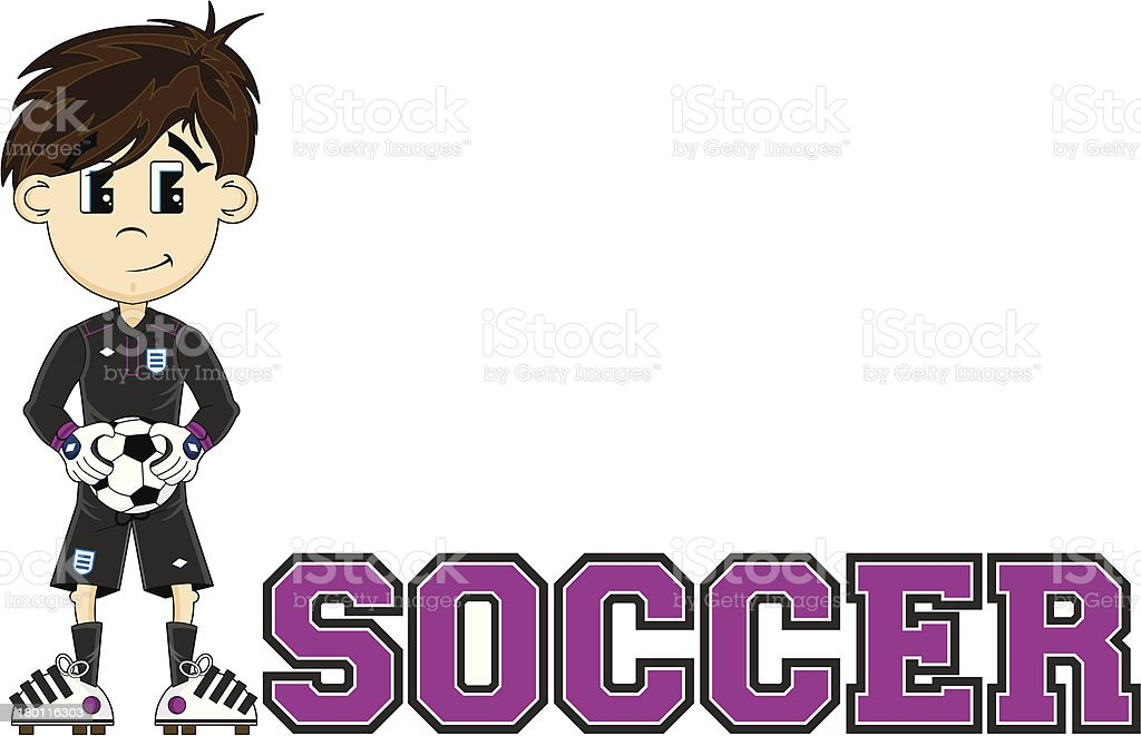 Soccer Goalkeeper Learn to Read Illustration royalty-free stock vector art