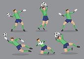 Soccer Goalkeeper Vector Icon Illustration