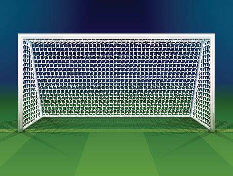 Soccer goalpost with net