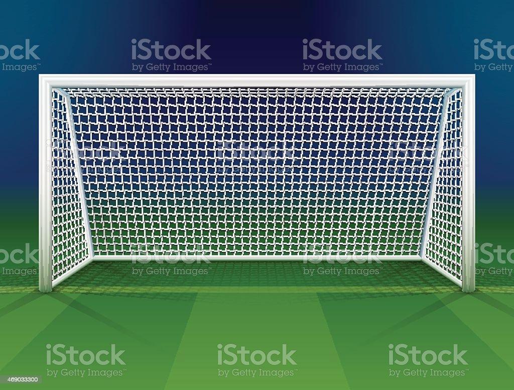 goalpost de fútbol con net - ilustración de arte vectorial
