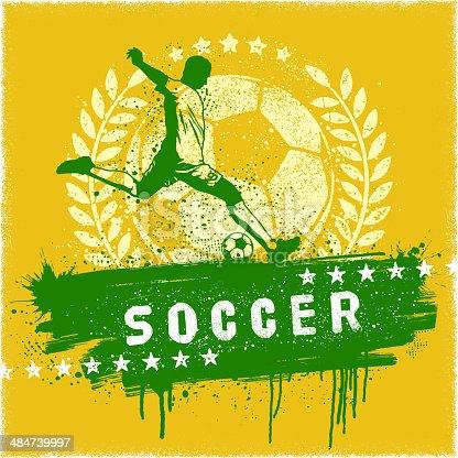 istock Soccer Graffiti Sign 484739997