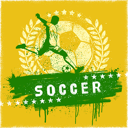Soccer Graffiti Sign