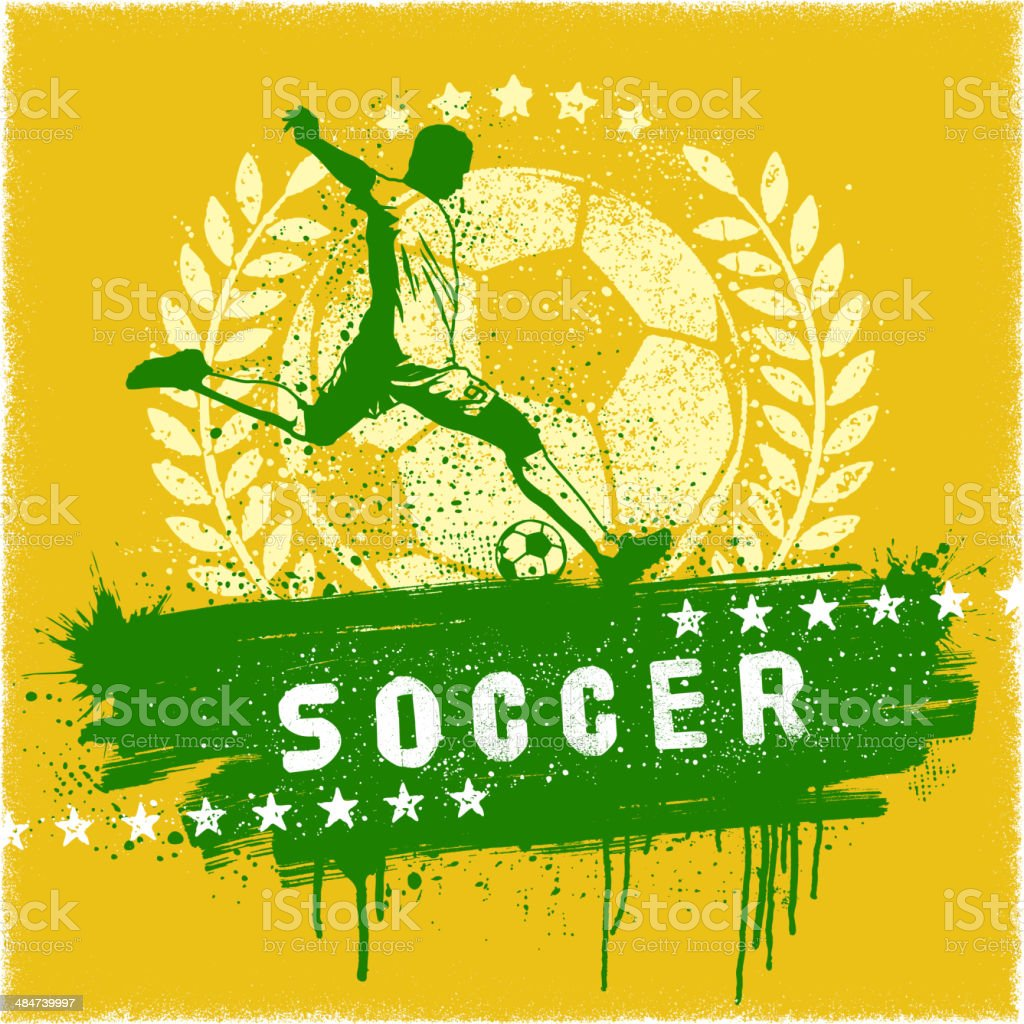 Soccer Graffiti Sign vector art illustration