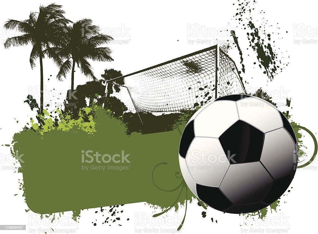 Soccer grunge background royalty-free stock vector art