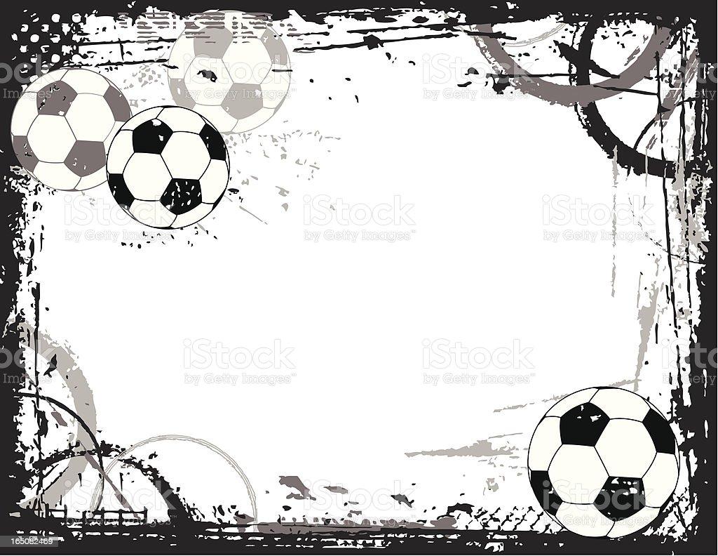 Soccer Grunge Border Stock Vector Art Amp More Images Of