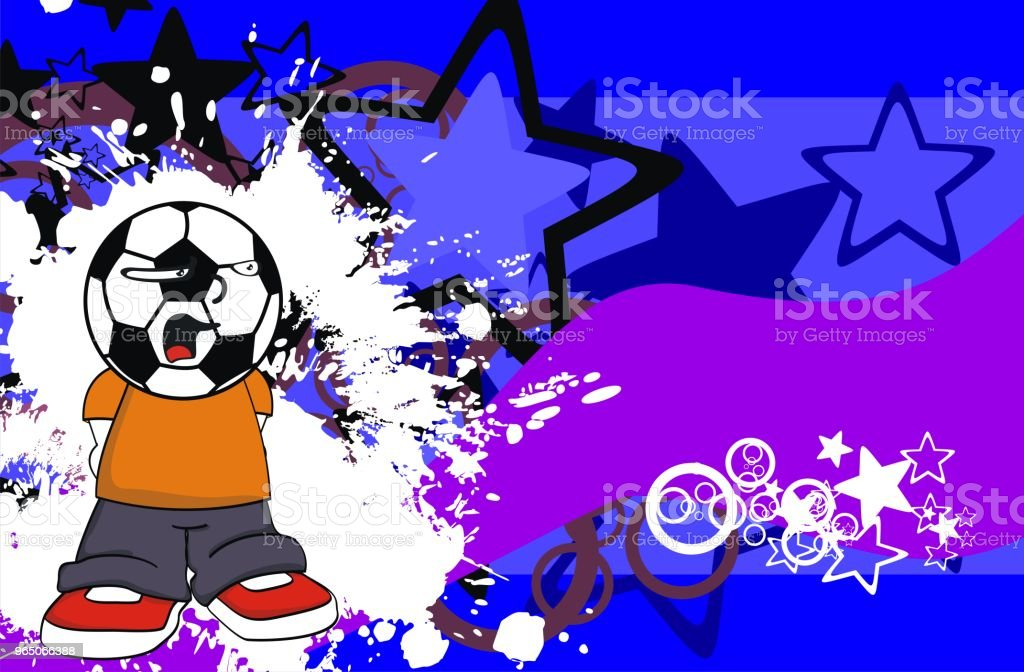 soccer head kid cartoon expression background royalty-free soccer head kid cartoon expression background stock vector art & more images of caricature
