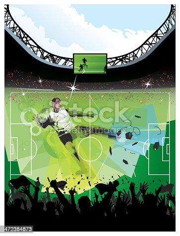 istock Soccer hero against a Soccer Arena 472384873