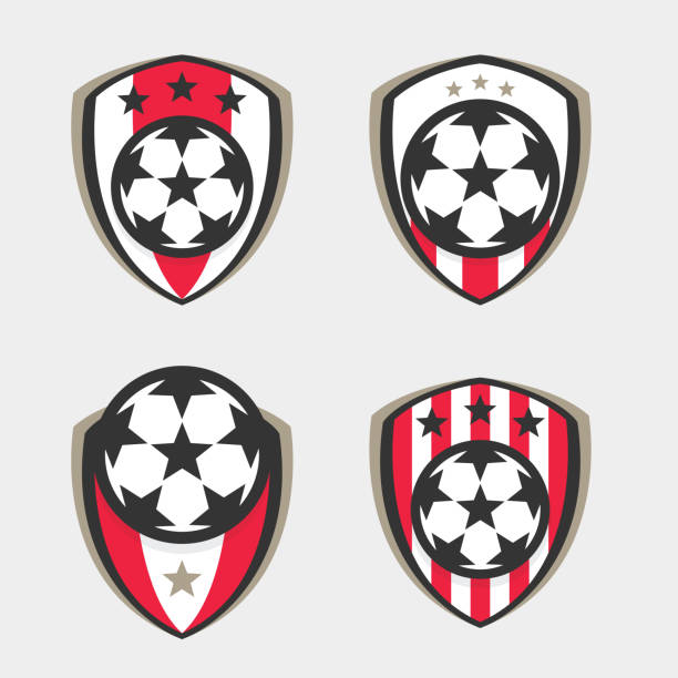 royalty free soccer crest template backgrounds clip art vector