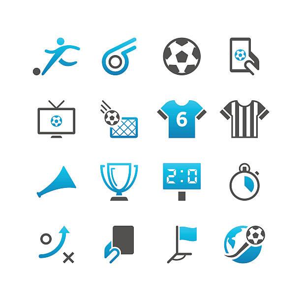 Fußball-Icon-Set/präzise Series – Vektorgrafik