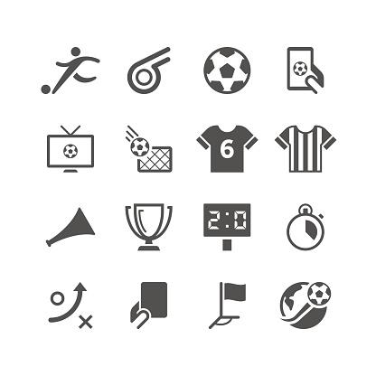Soccer Icon Set   Unique Series