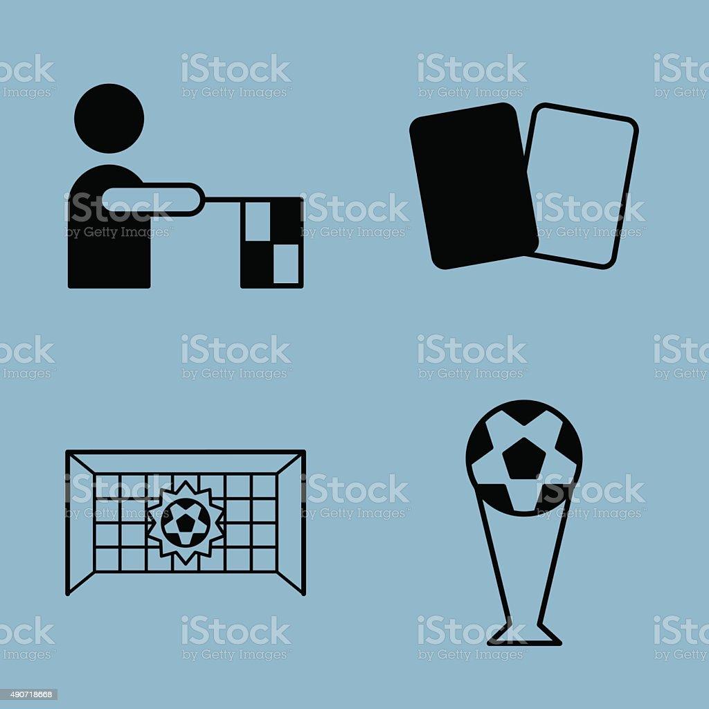Fußball-icon-set – Vektorgrafik