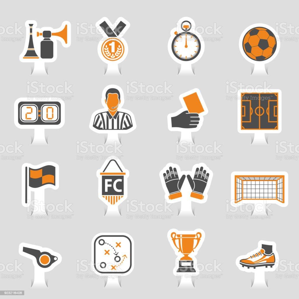 Pegatina de icono de fútbol - ilustración de arte vectorial
