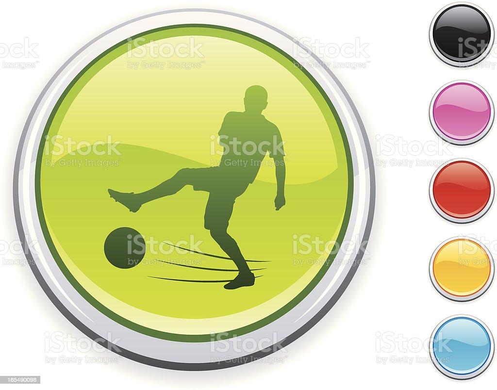 Ícone de futebol - ilustração de arte em vetor