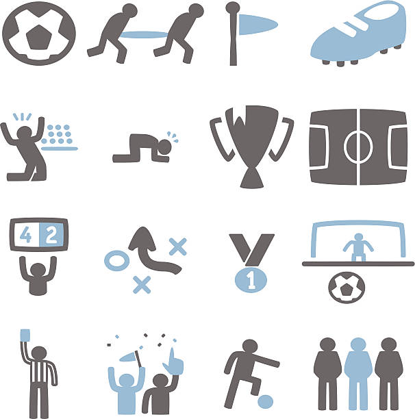 Soccer Icon Vector File of Soccer Icon fan club stock illustrations