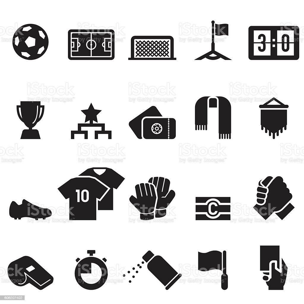 Soccer Icons [Black Edition] – Vektorgrafik