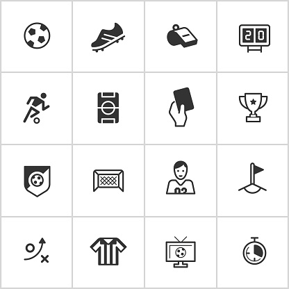 Soccer Icons — Inky Series