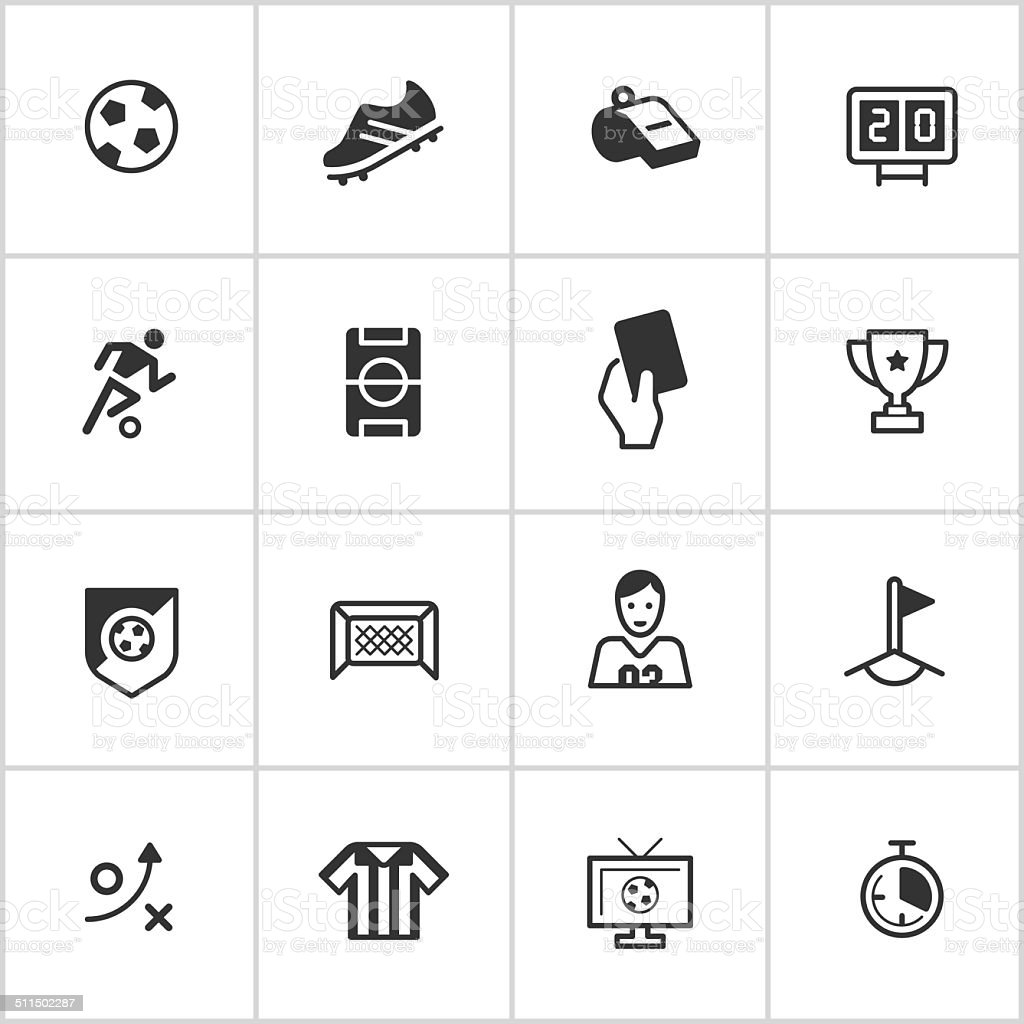 Soccer Icons — Inky Series vector art illustration