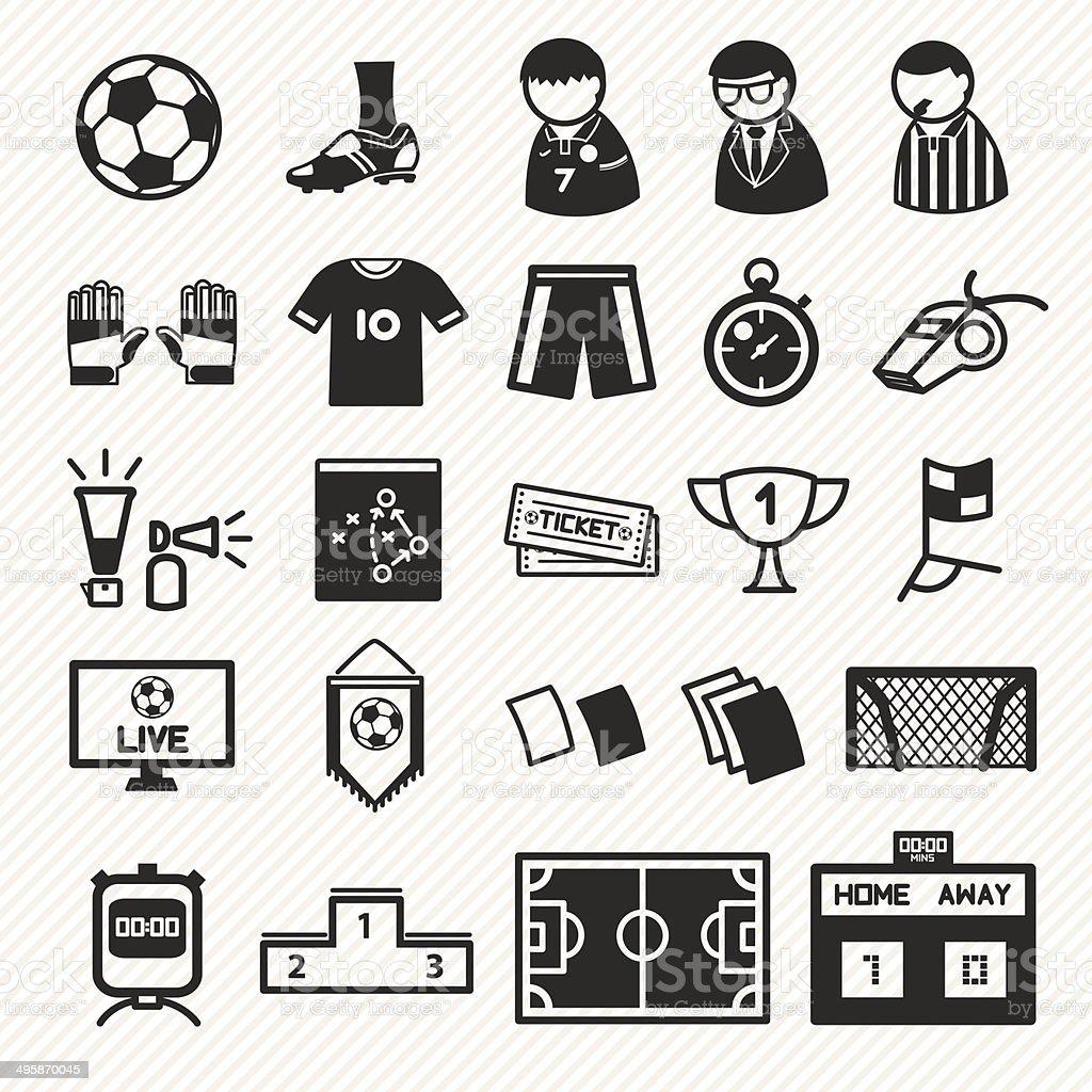 Fußball-icons set. – Vektorgrafik