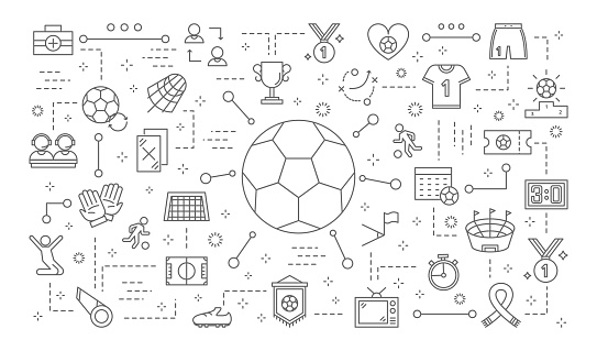 Soccer icons set.