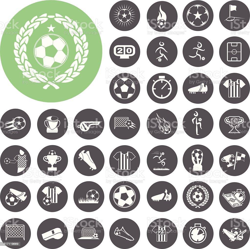 Fußball-icons set.  Vektor-Illustration eps10 – Vektorgrafik