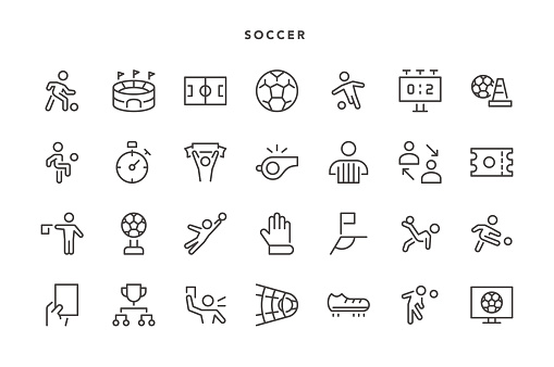 Soccer Icons - Vector EPS 10 File, Pixel Perfect 28 Icons.