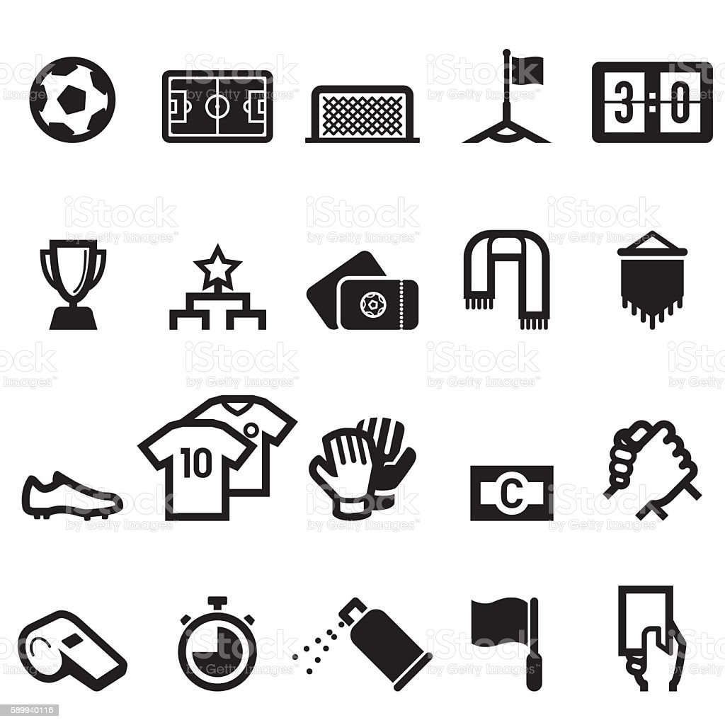 Soccer Icons vector art illustration