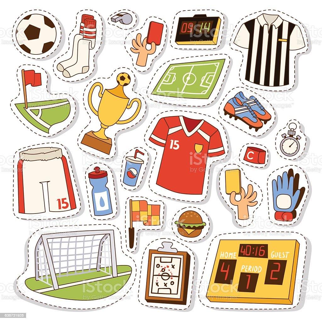 Soccer icons vector illustration. vector art illustration