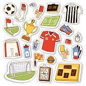 Soccer icons vector illustration.