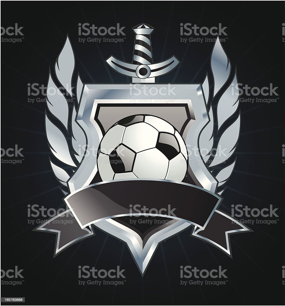Soccer insignia royalty-free stock vector art