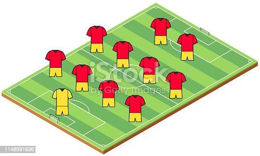 Soccer isometric