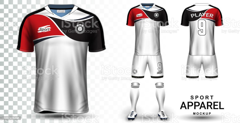 68c83424f Soccer Jersey And Football Kit Presentation Mockup Template Front ...