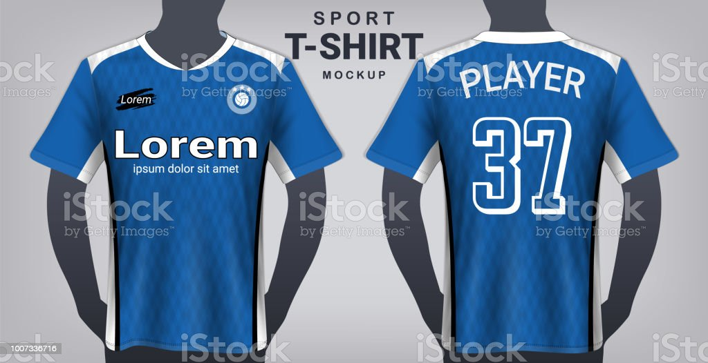 soccer jersey and sport tshirt mockup template realistic graphic