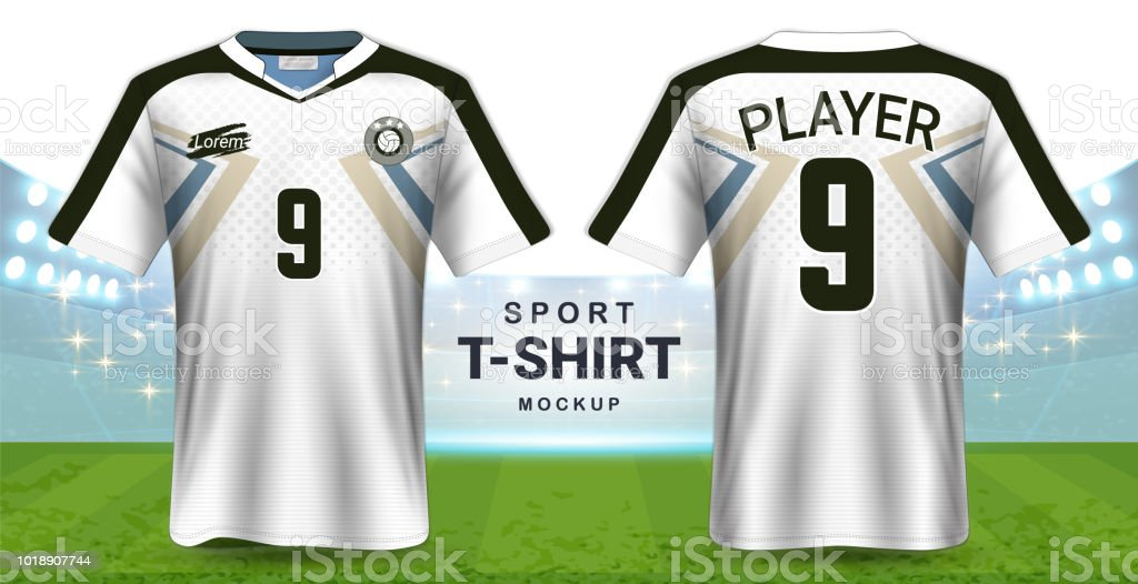 Soccer Jersey And Sportswear Tshirt Mockup Template Realistic