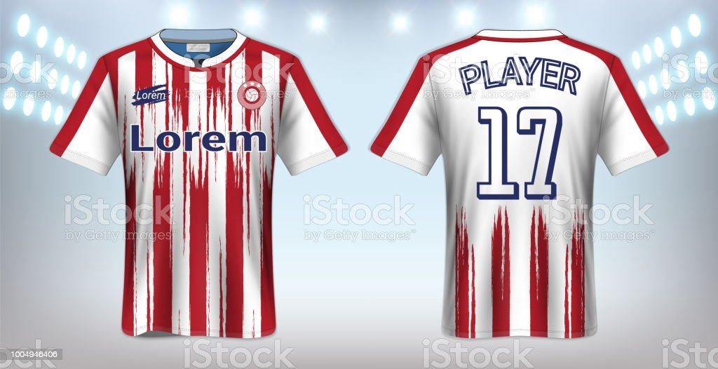 Ilustración de Camiseta De Fútbol Y Camiseta Del Deporte Plantilla ... e29fc1d9a4e7f